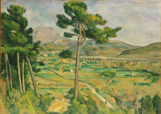 Cezanne, Paul: Mont Sainte-Victoire and the Viaduct of the Arc River Valley. Fine Art Print/Poster. Sizes: A4/A3/A2/A1 (004216)